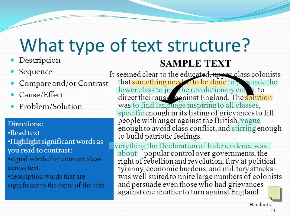 What type of text structure