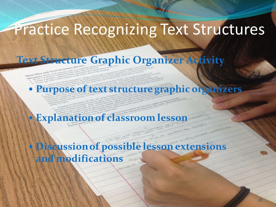 Practice Recognizing Text Structures