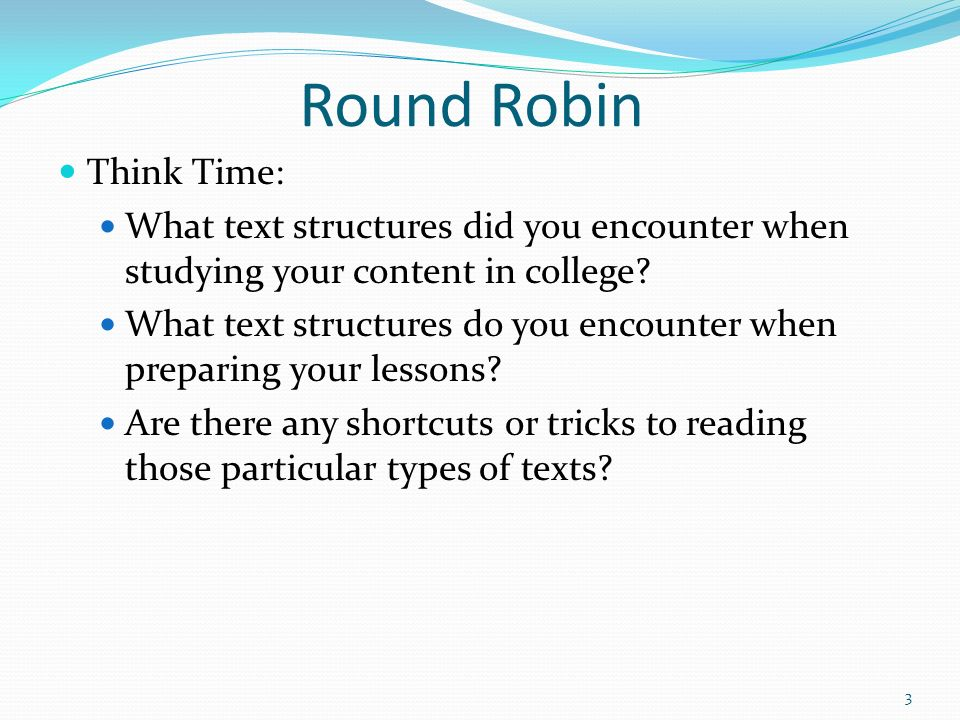 Round Robin Think Time: