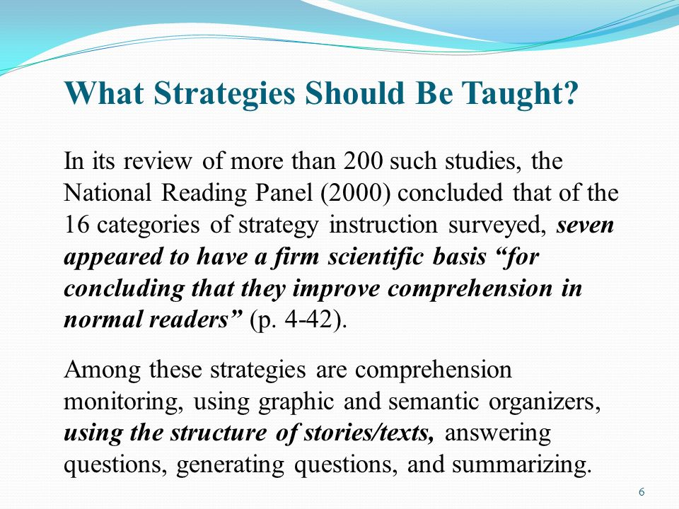 instructional strategies for teaching reading comprehension