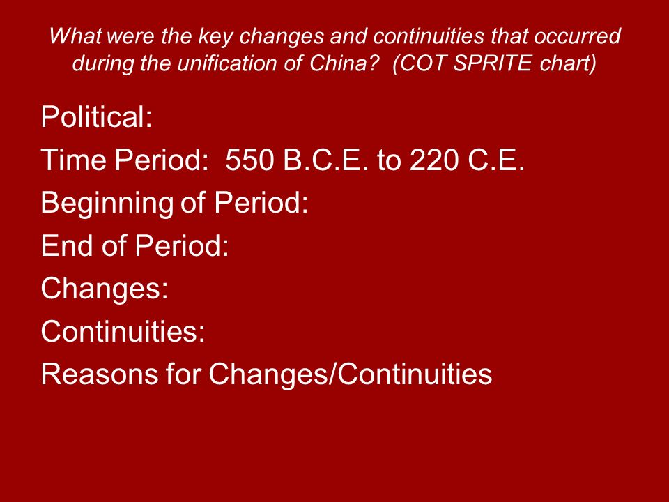 changes and continuities during the aztec Get an answer for 'the changes and continuities over time for african politics from c 1000 ce to c 2000 cehow did africa change/stay the same during that time.