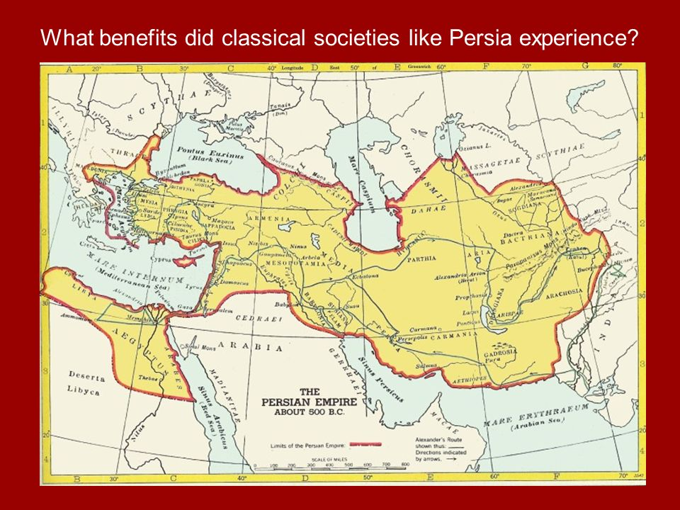 What benefits did classical societies like Persia experience