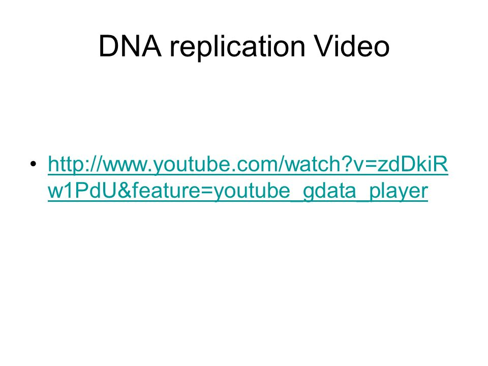 DNA replication Video   v=zdDkiRw1PdU&feature=youtube_gdata_player