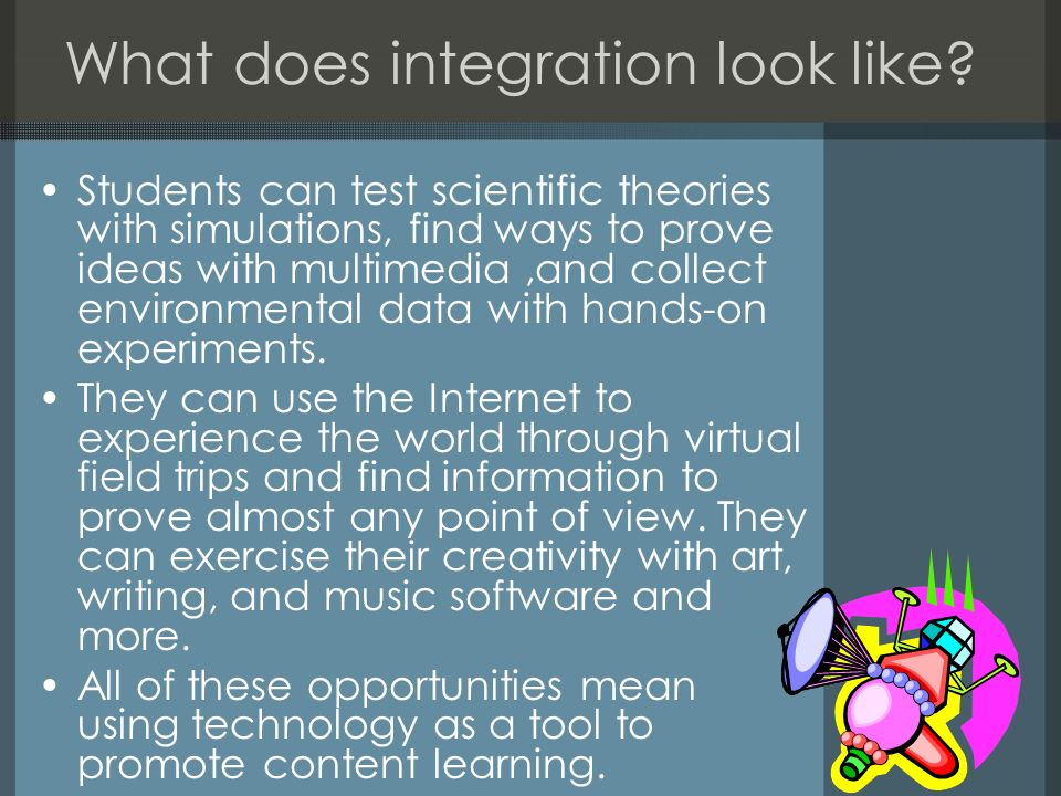 What does integration look like