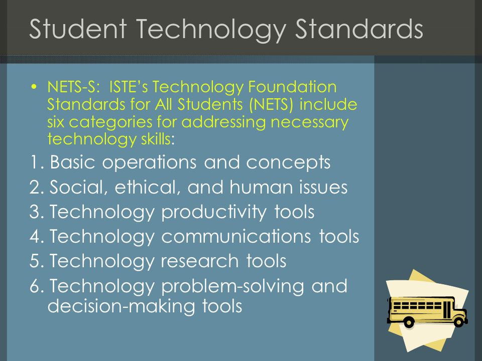 Student Technology Standards