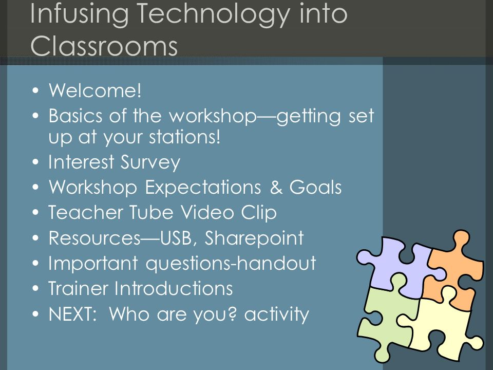 Infusing Technology into Classrooms