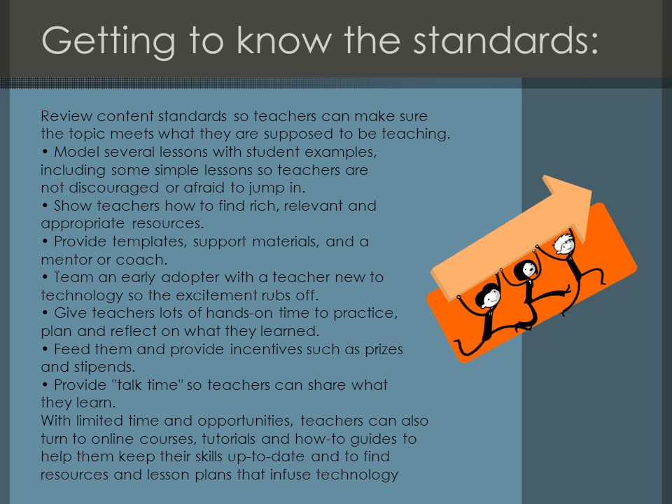 Getting to know the standards: