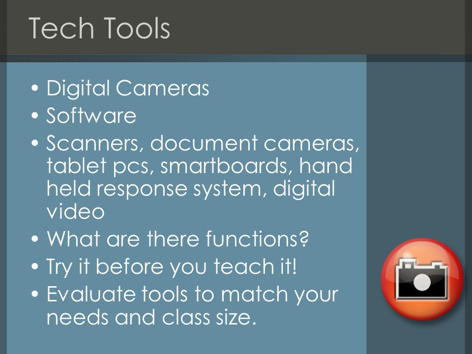 Tech Tools Digital Cameras Software