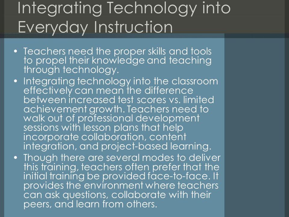 Integrating Technology into Everyday Instruction