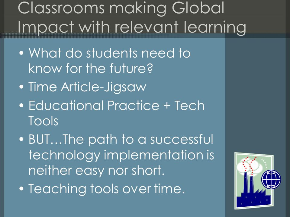 Classrooms making Global Impact with relevant learning