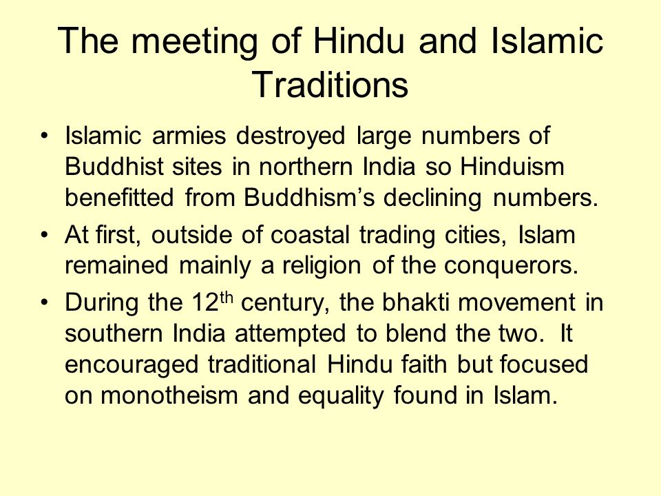 The meeting of Hindu and Islamic Traditions