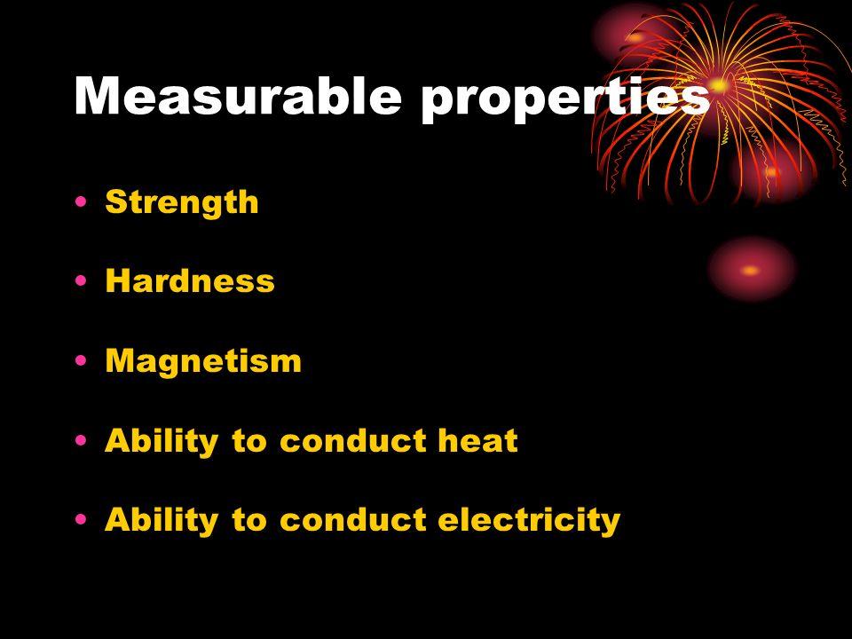 Measurable properties