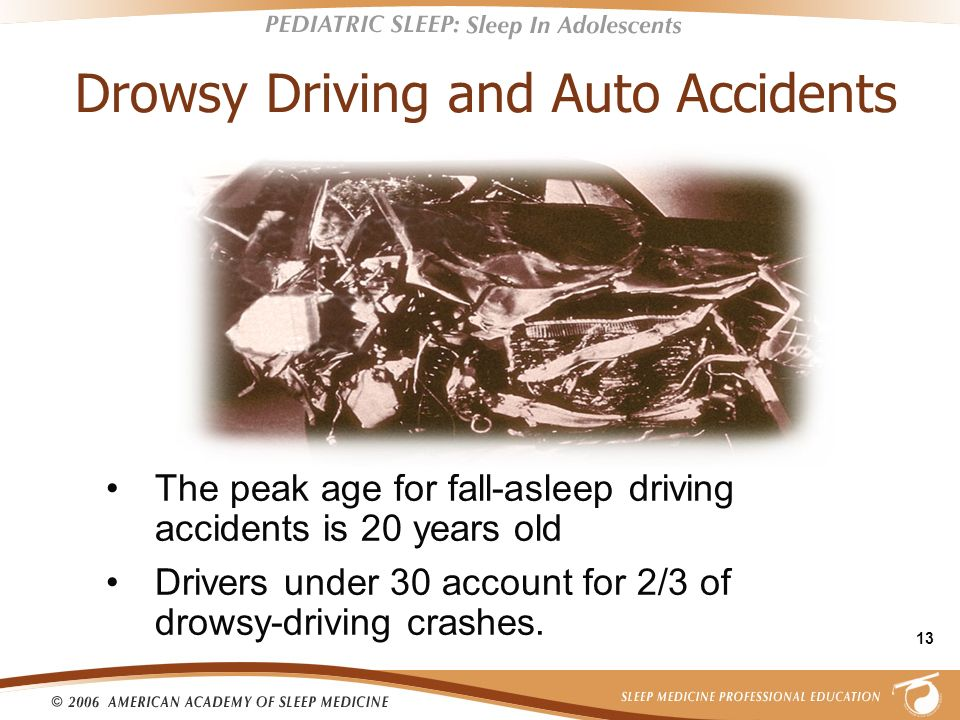 Drowsy Driving and Auto Accidents
