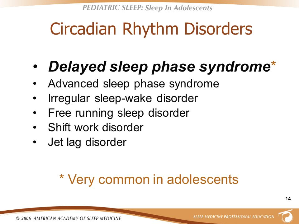 Circadian Rhythm Disorders