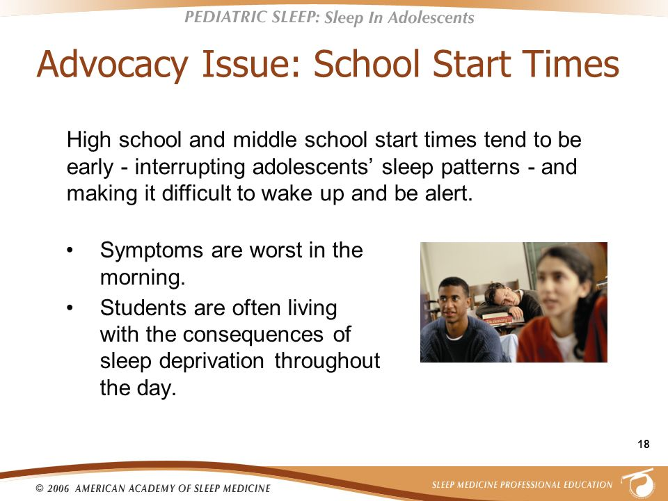 Advocacy Issue: School Start Times