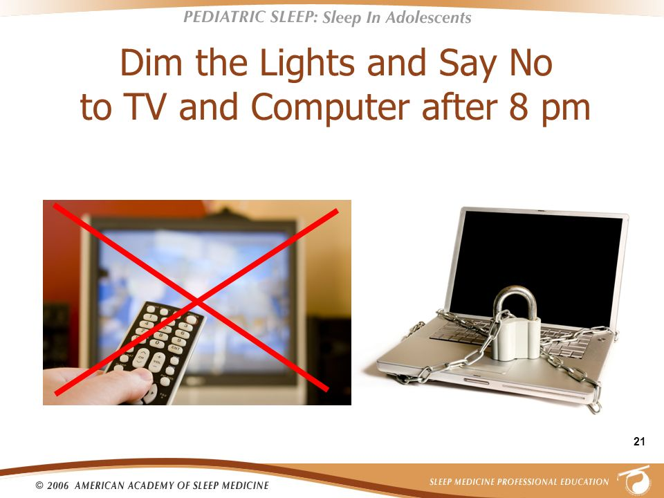 Dim the Lights and Say No to TV and Computer after 8 pm