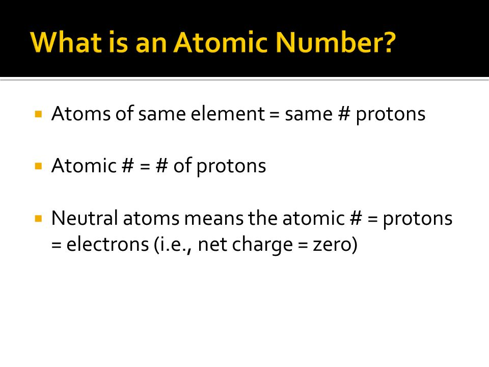 What is an Atomic Number
