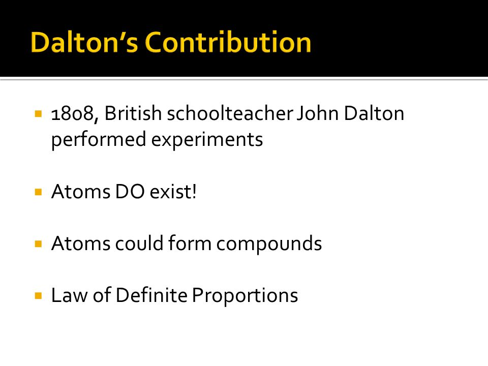 Dalton's Contribution