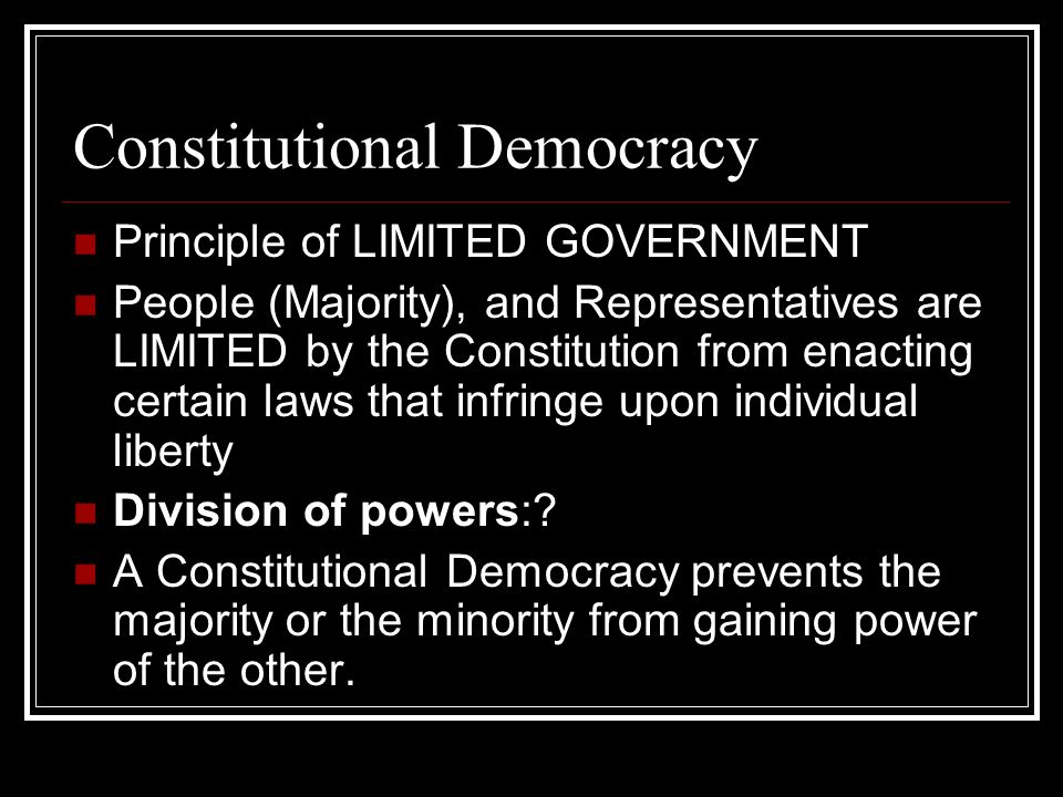 constitution elitist or democratic In defense of elitism  that you need a constitution that in some way stands above popular sentiment and also sets a limit to it  democracy more usually just .