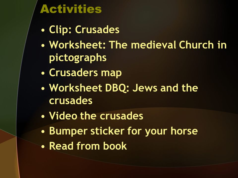 Activities Clip: Crusades
