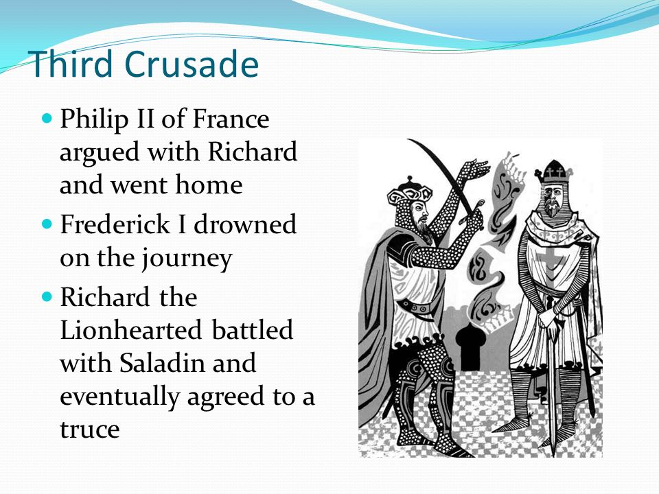 Third Crusade Philip II of France argued with Richard and went home