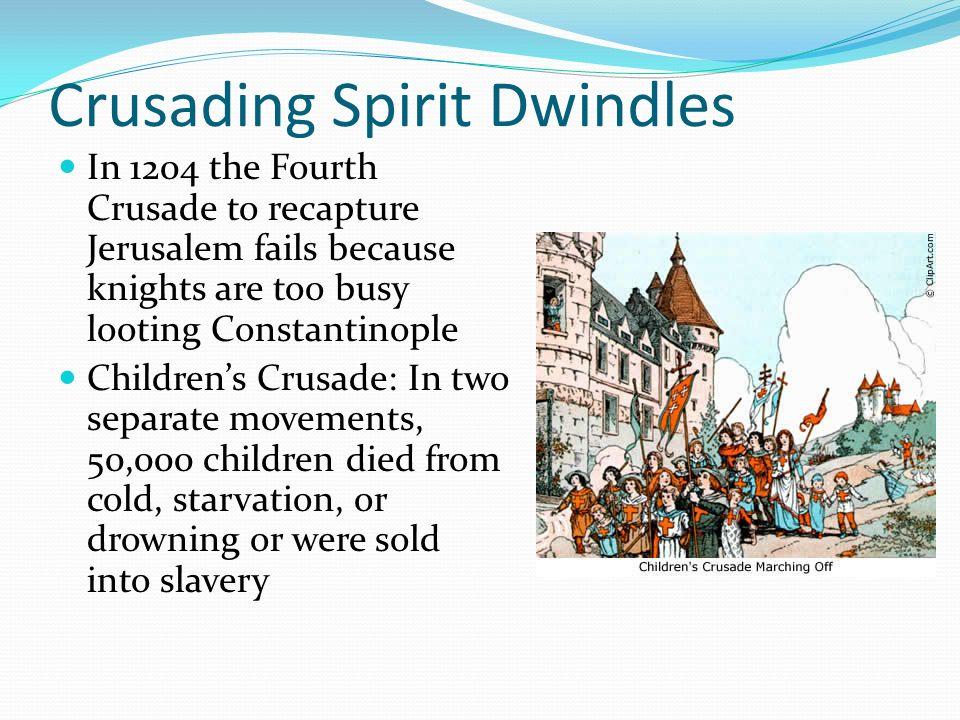 Crusading Spirit Dwindles