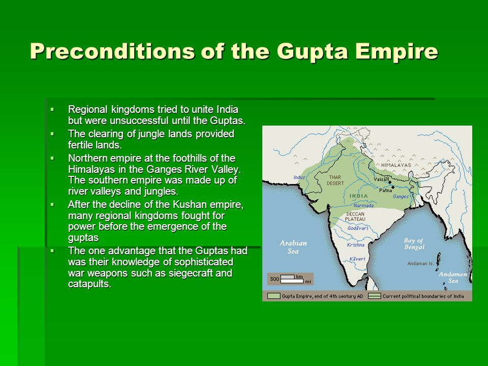 Preconditions of the Gupta Empire