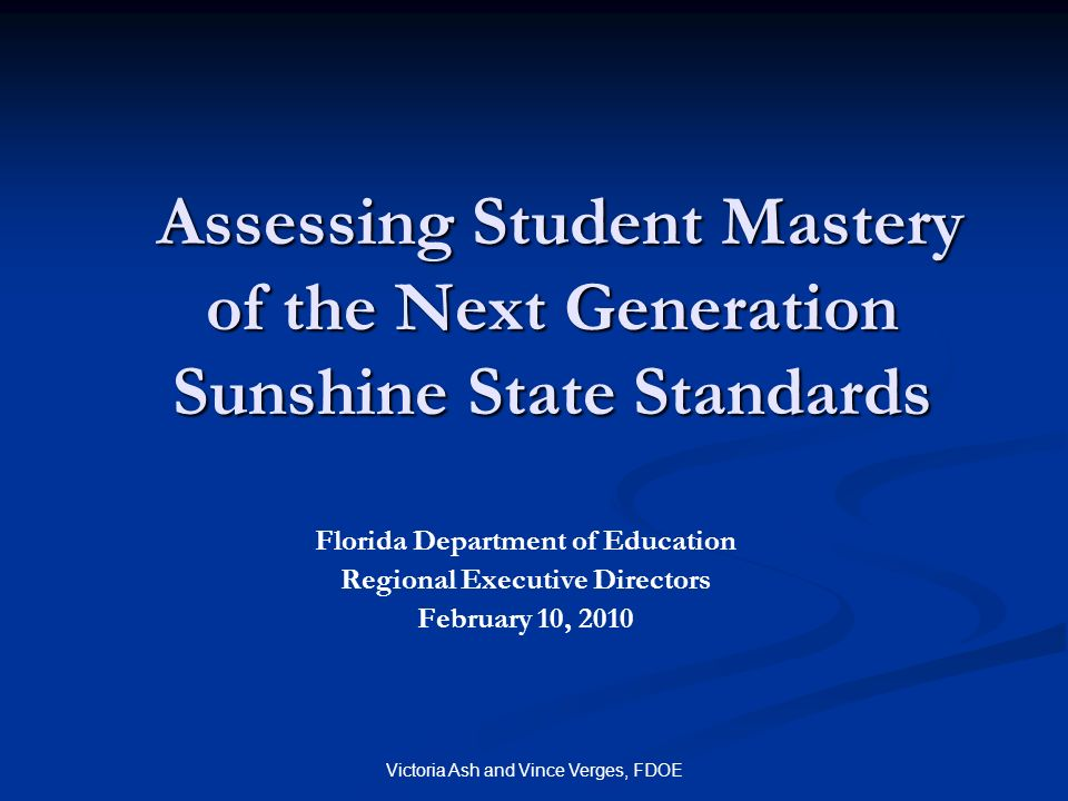 Florida Department of Education Regional Executive Directors
