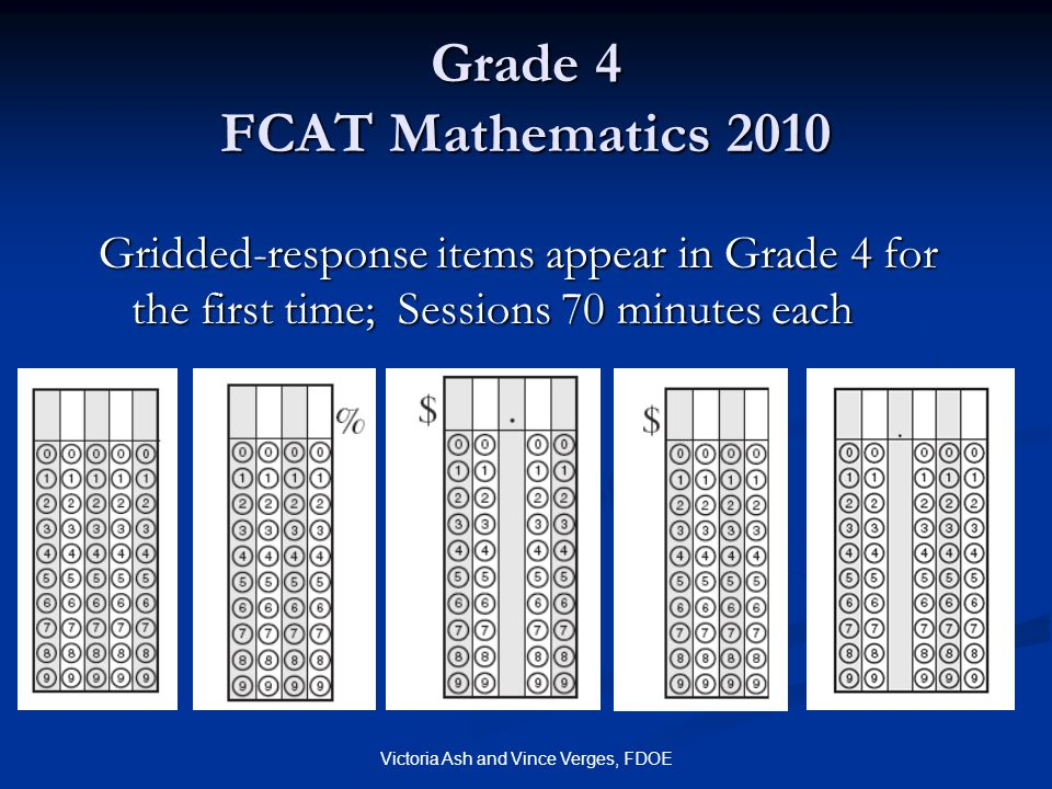 Grade 4 FCAT Mathematics 2010