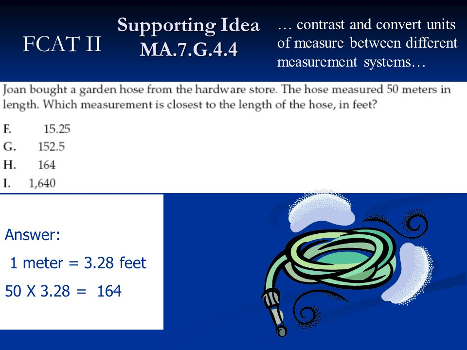 FCAT II Supporting Idea MA.7.G.4.4