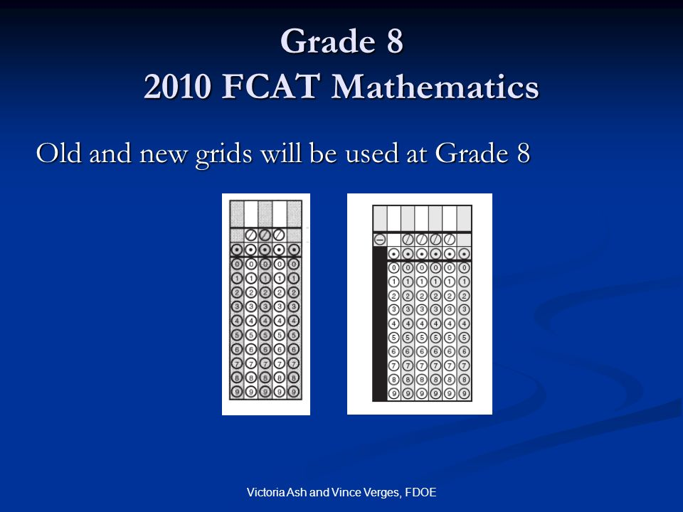 Grade 8 2010 FCAT Mathematics