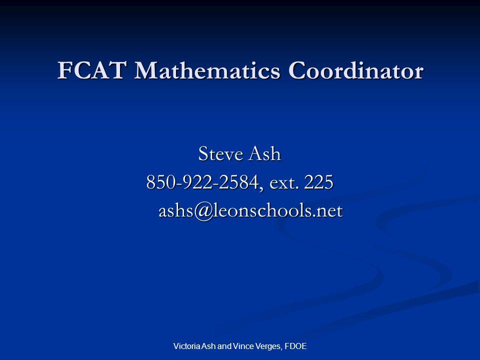FCAT Mathematics Coordinator