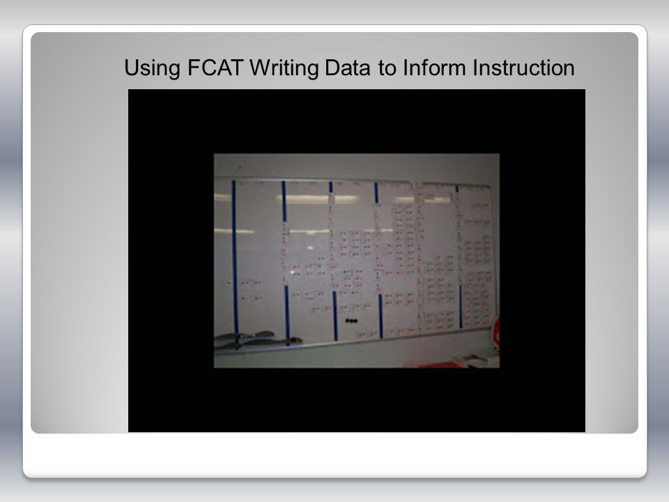 Using FCAT Writing Data to Inform Instruction