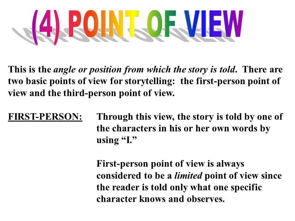 (4) POINT OF VIEW