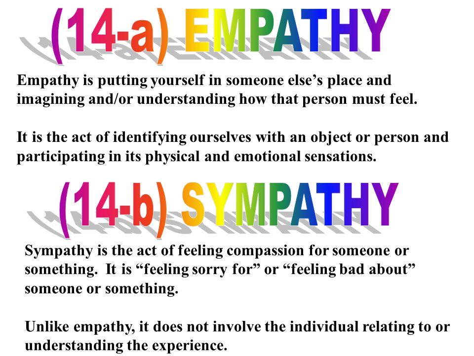 (14-a) EMPATHY (14-b) SYMPATHY