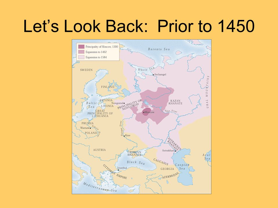 Let's Look Back: Prior to 1450