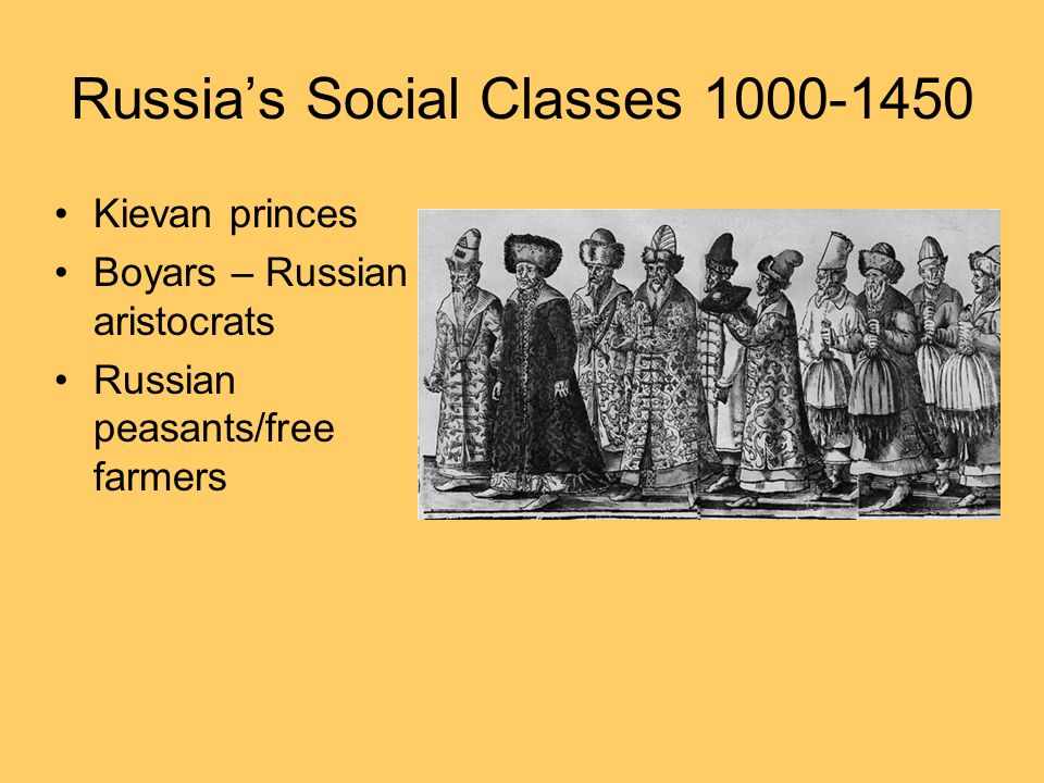 Russia's Social Classes 1000-1450