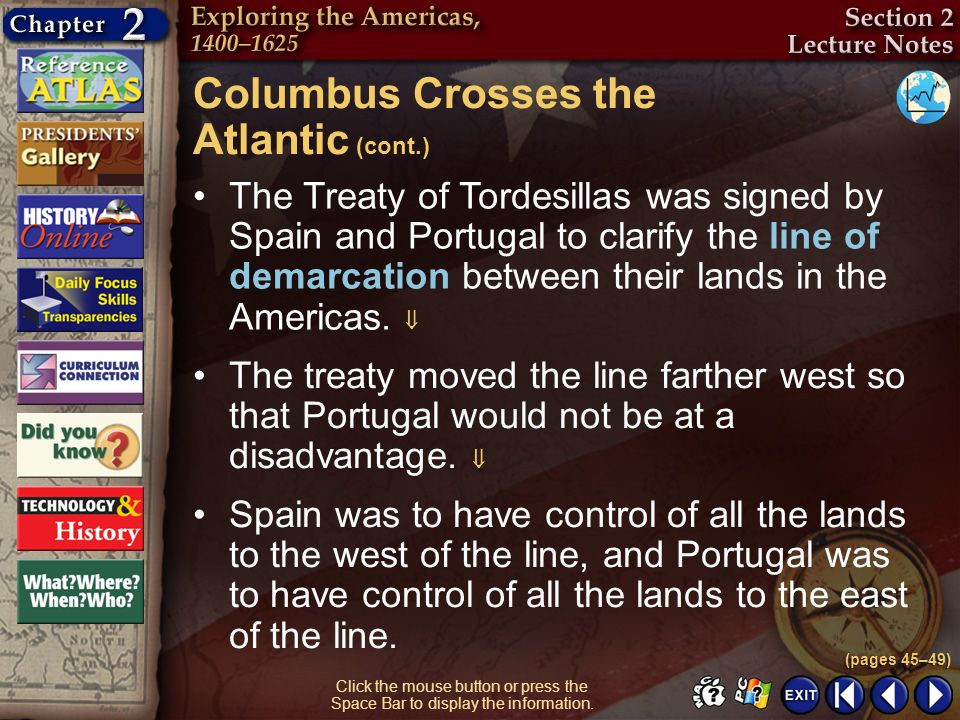 Columbus Crosses the Atlantic (cont.)