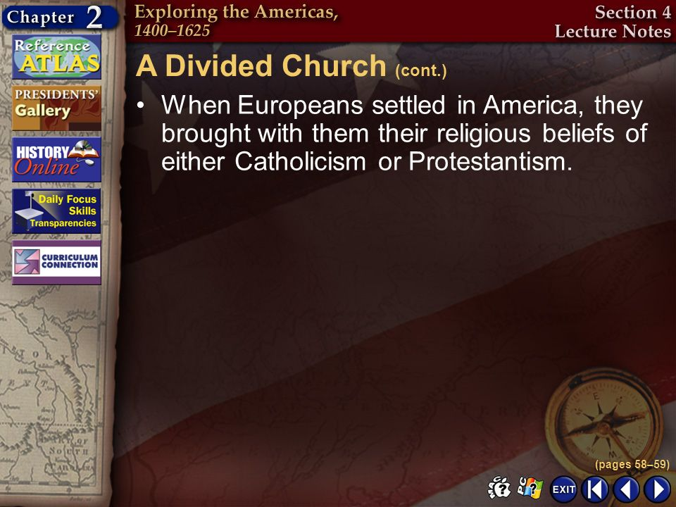 A Divided Church (cont.)