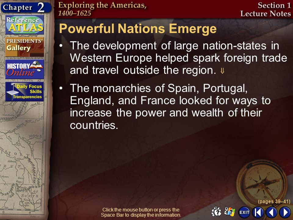 Powerful Nations Emerge
