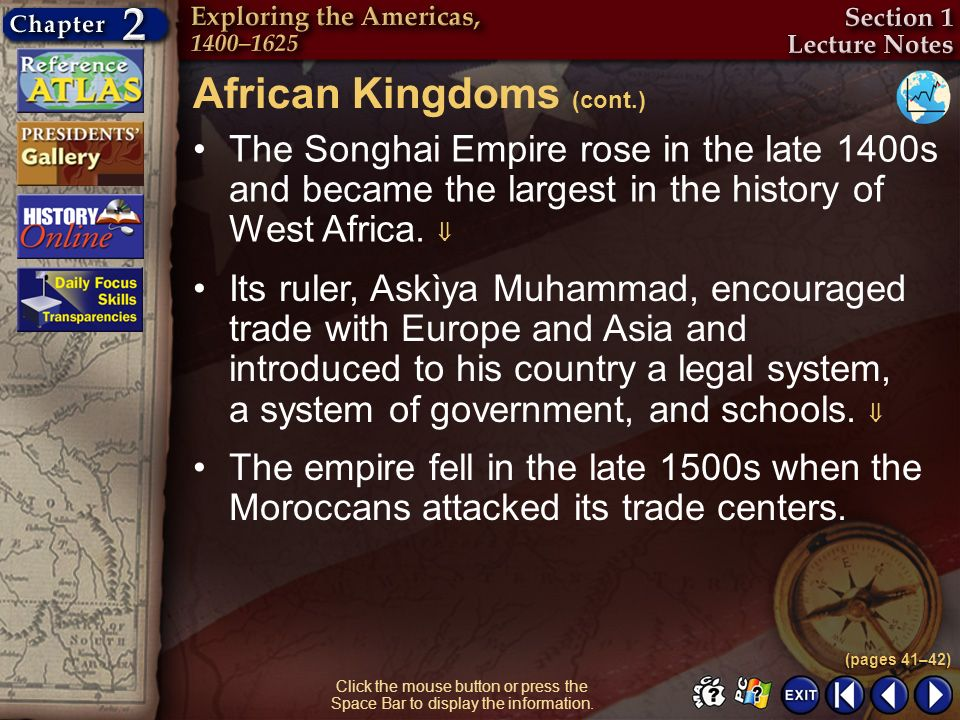 African Kingdoms (cont.)