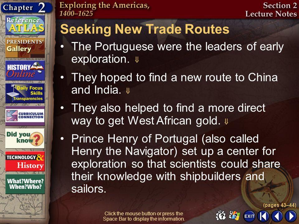 Seeking New Trade Routes