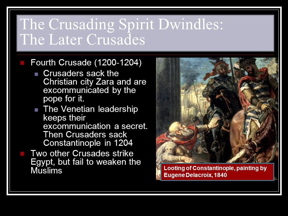 The Crusading Spirit Dwindles: The Later Crusades