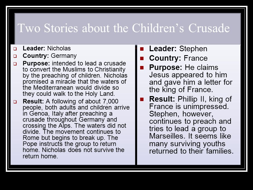Two Stories about the Children's Crusade