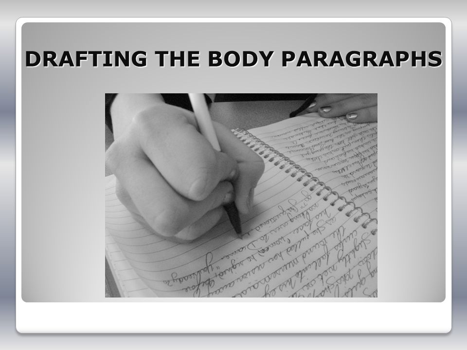 DRAFTING THE BODY PARAGRAPHS