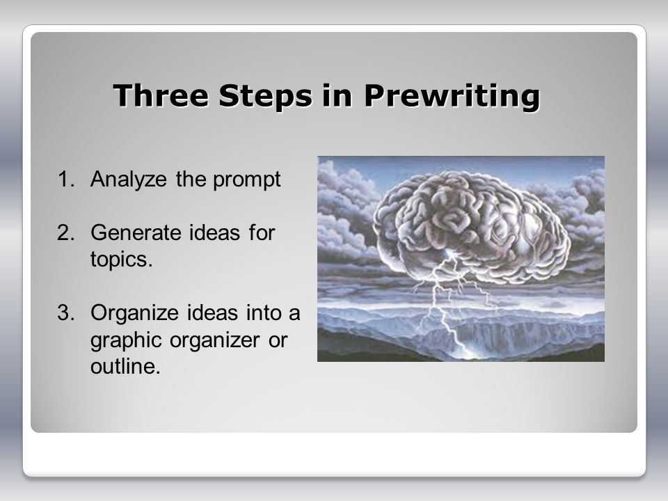 Three Steps in Prewriting