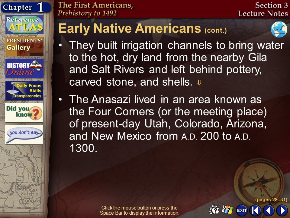 Early Native Americans (cont.)