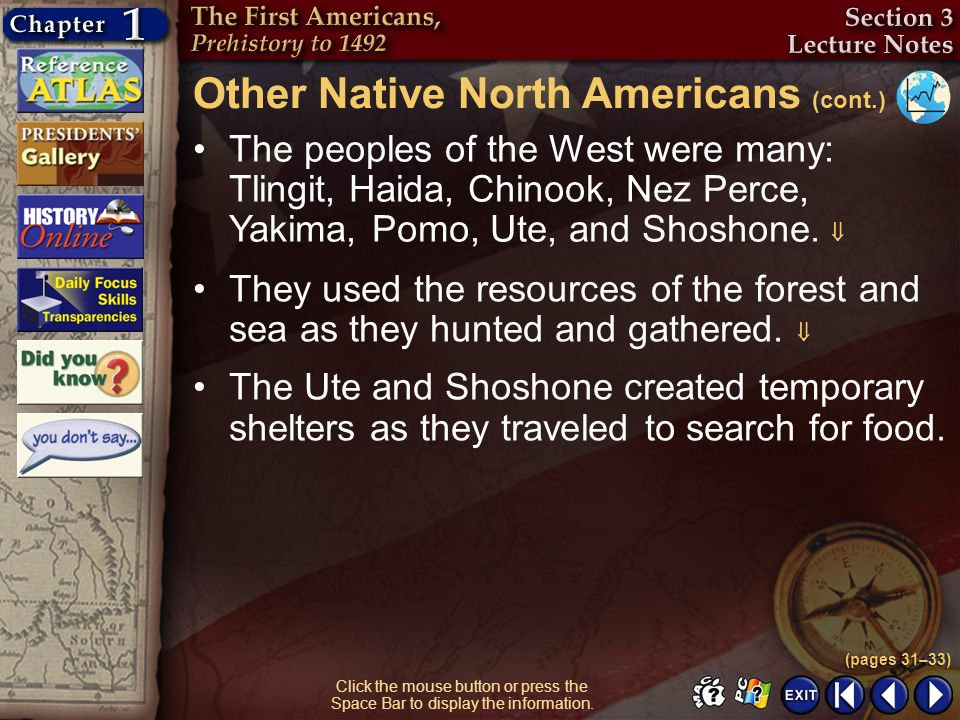 Other Native North Americans (cont.)