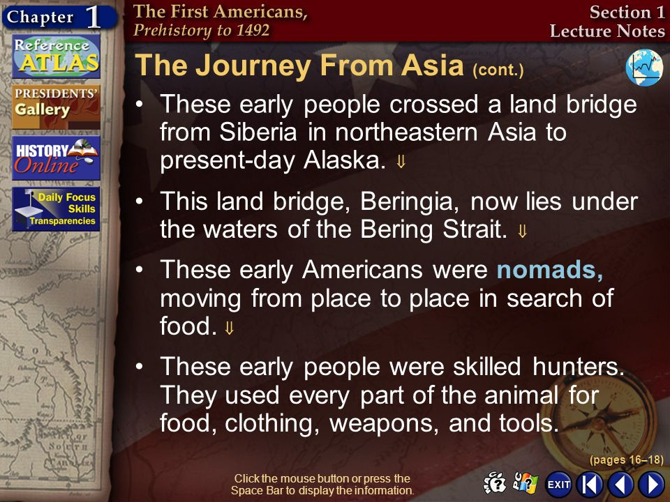The Journey From Asia (cont.)