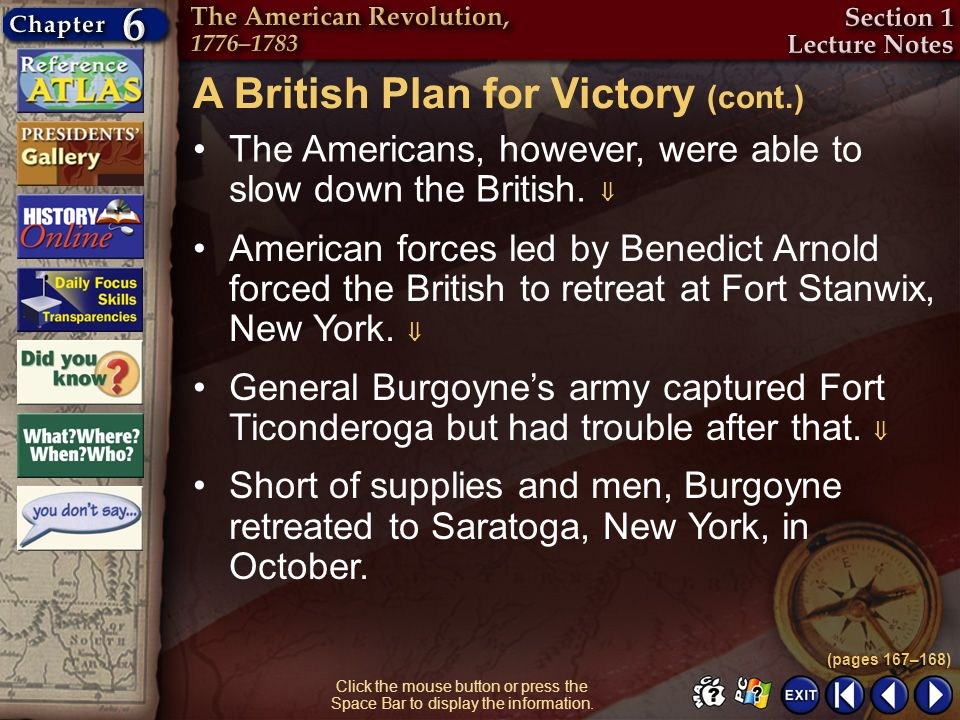 A British Plan for Victory (cont.)